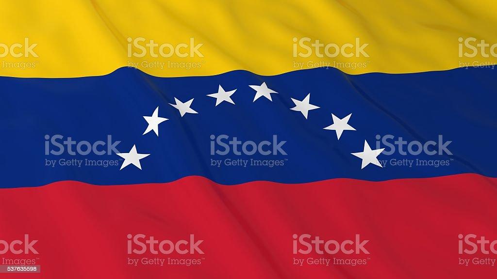 Venezuelan Flag HD Background - Flag of Venezuela 3D Illustration stock photo