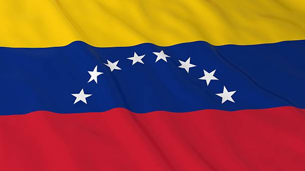 venezuelan flag hd background - flag of venezuela 3d illustration - venezuelan flag stock photos and pictures