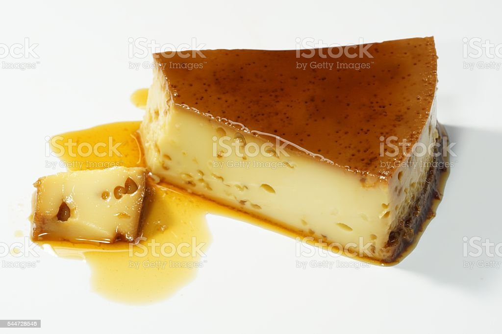 Venezuelan quesillo (flan) stock photo