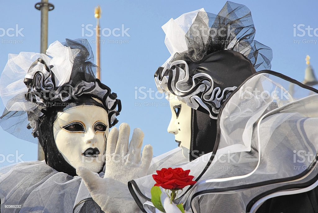 Venica carnival. Discussion royalty-free stock photo