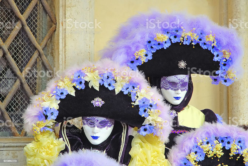 venica carnival. Mass and flowers royalty-free stock photo