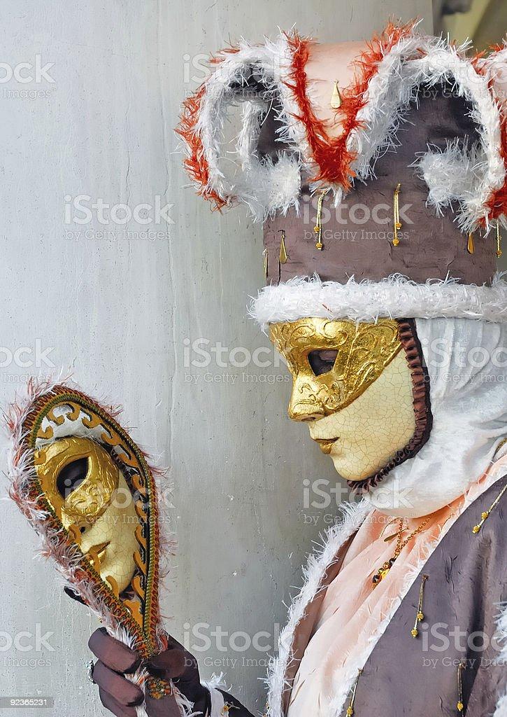 Venica Karneval. Waschtisch Lizenzfreies stock-foto