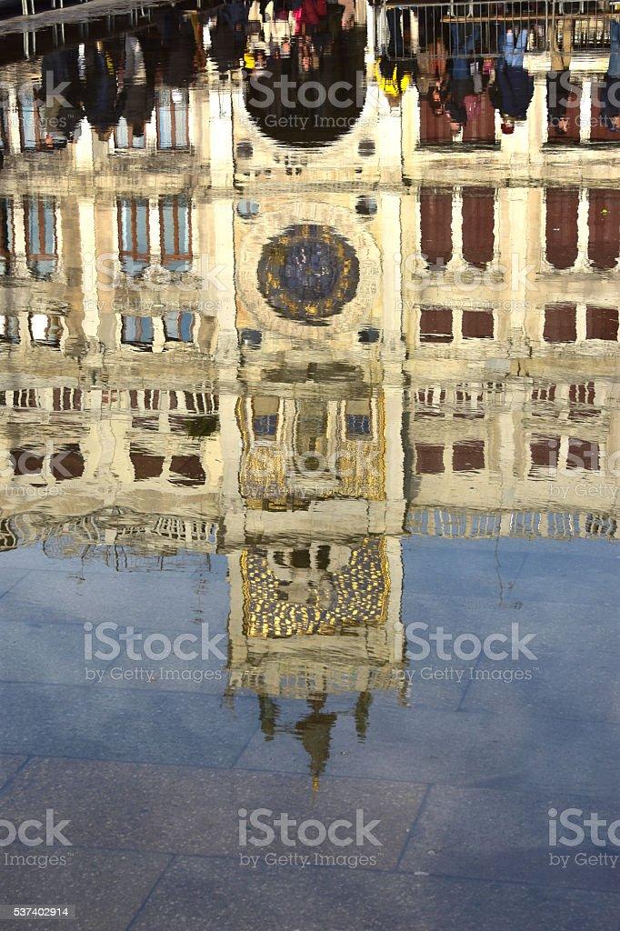 Venice Acqua Alta stock photo