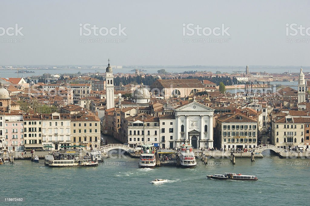 Venice - Aerial View fom Giudecca showing the canal royalty-free stock photo