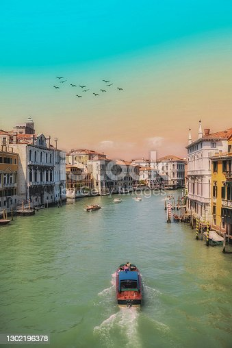 Venice,  Canals and transportation ships