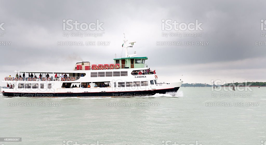 Venice and the modes of Water Transportation stock photo