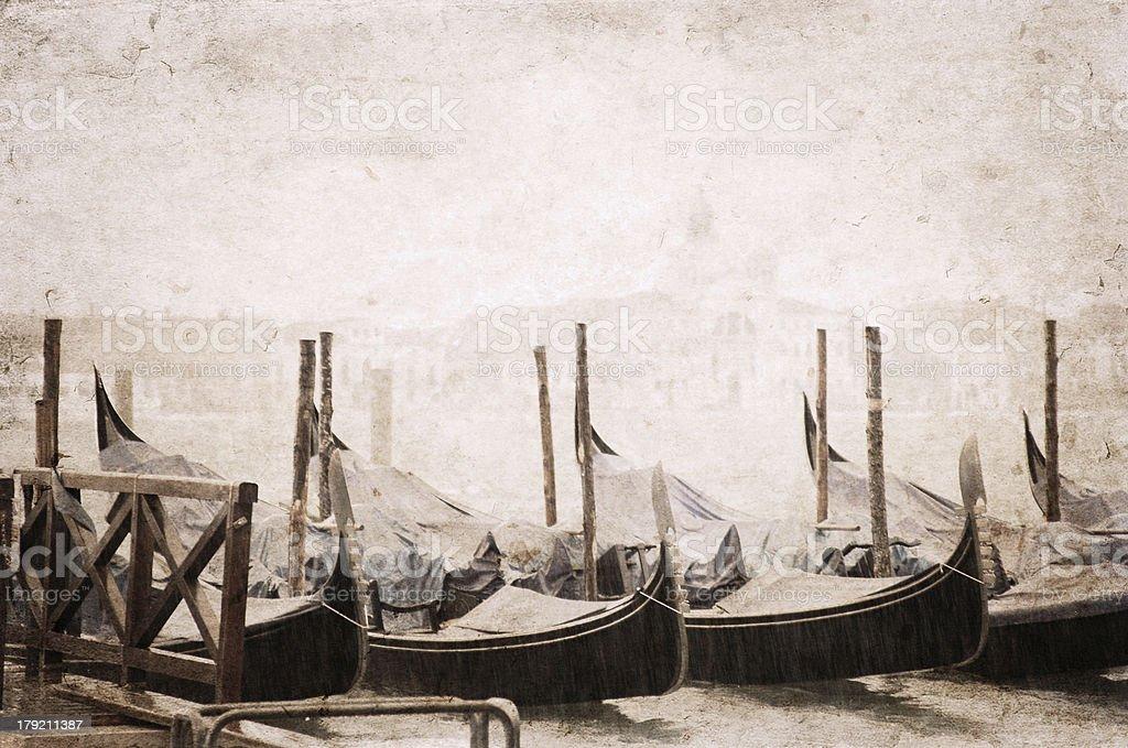 Venice, artwork in retro style royalty-free stock photo