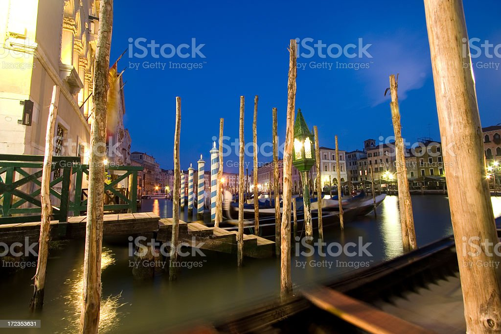 Venecia al atardecer foto de stock libre de derechos