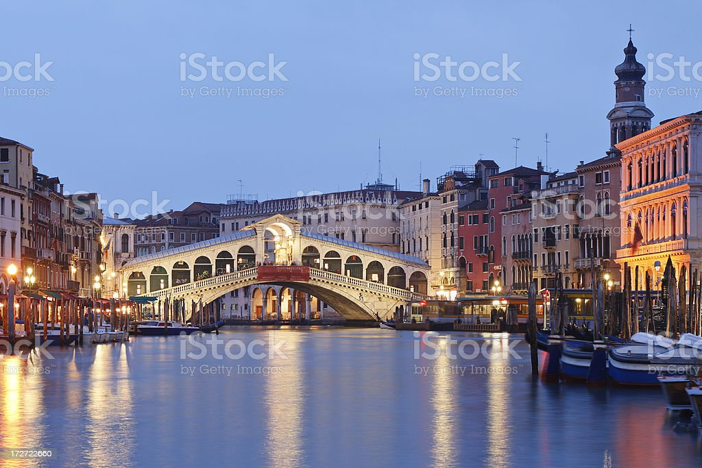 Venice at Night royalty-free stock photo