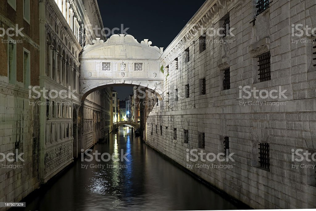 Venice at nightime royalty-free stock photo