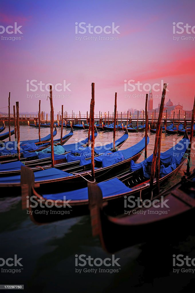 venice at sunset royalty-free stock photo