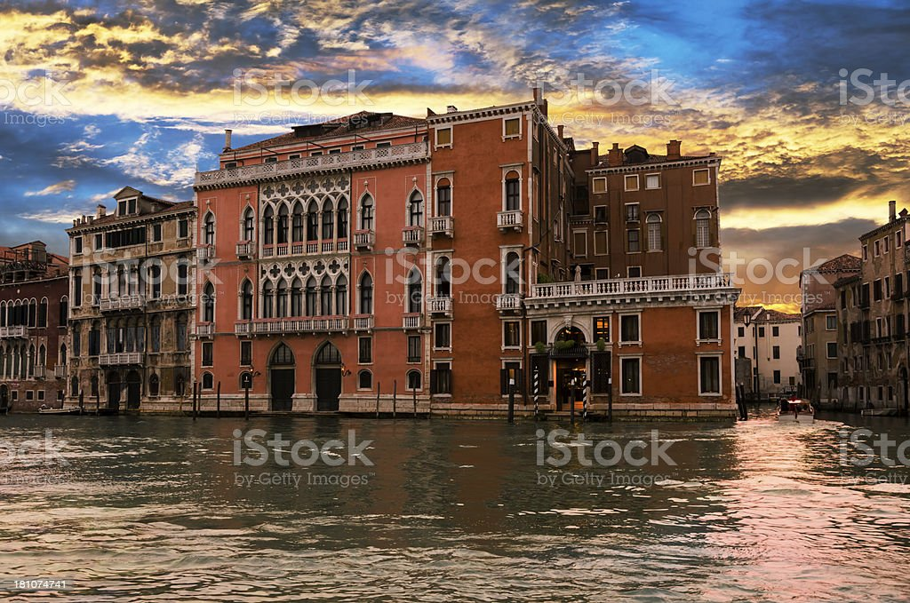 Venice at sunset royalty-free stock photo