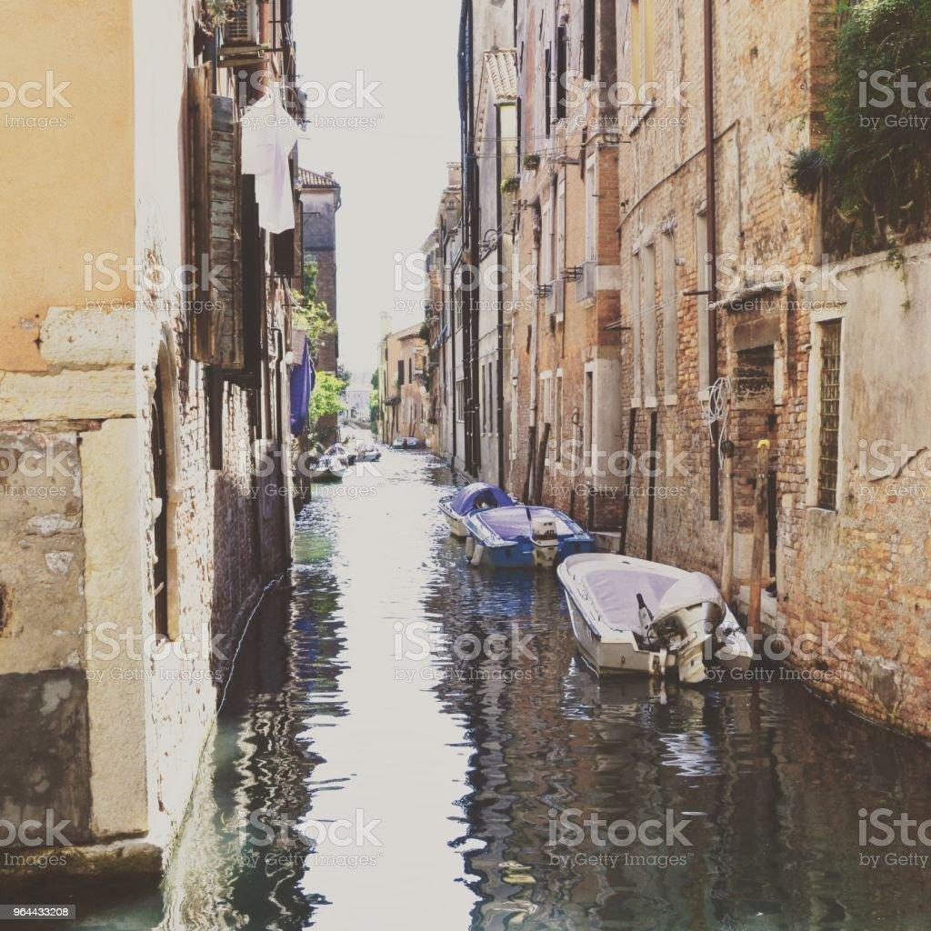 Backstreet Veneza (canal) - Foto de stock de Beleza royalty-free