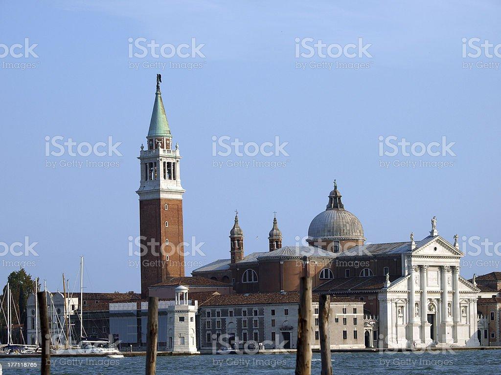 Venice - basilica of San Giorgio Maggiore. stock photo