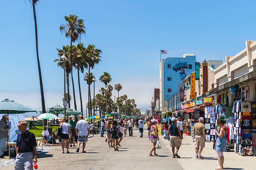 Venice Beach Boardwalk Ca Stock Photo - Download Image Now