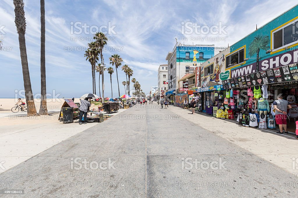 Venice Beach Boardwalk Editorial stock photo