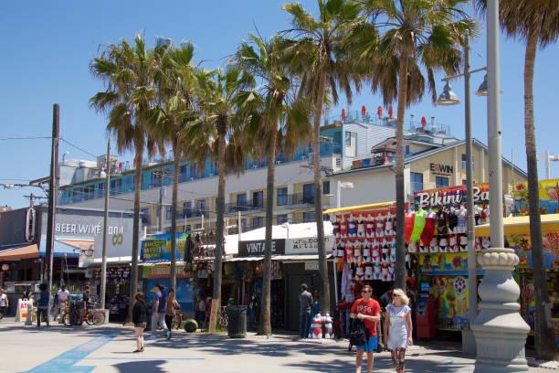 Venice Beach boardwalk stock photo