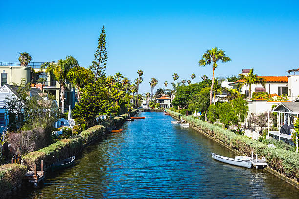 Venice Beach Canals, California, USA Venice Beach Canals canal stock pictures, royalty-free photos & images