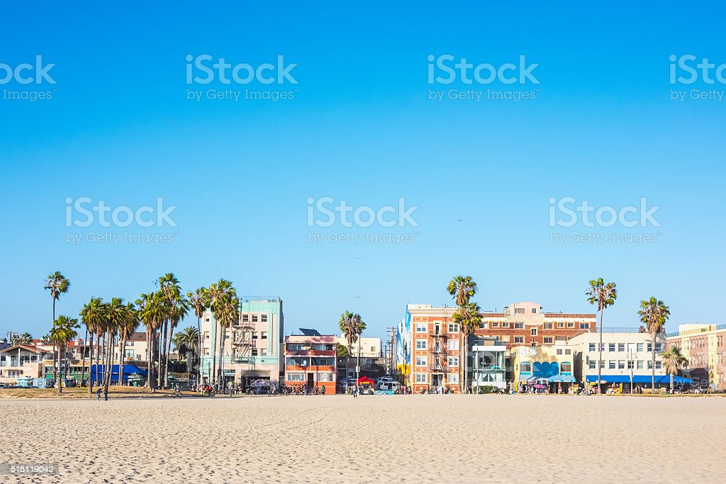 Venice Beach houses, California, USA stock photo