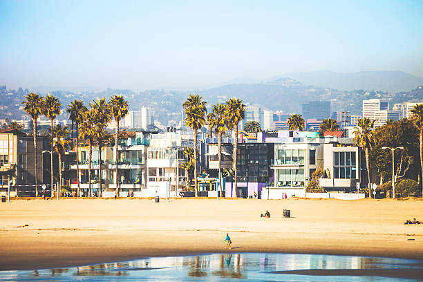 venice beach. - venice beach in kalifornien stock-fotos und bilder
