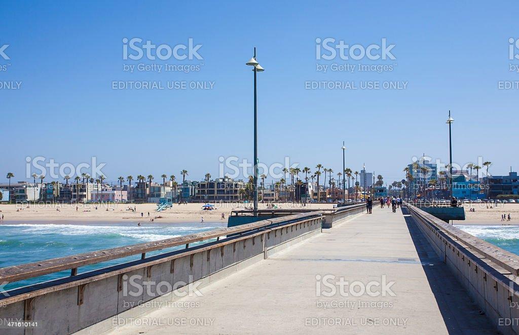 Venice Beach Pier royalty-free stock photo