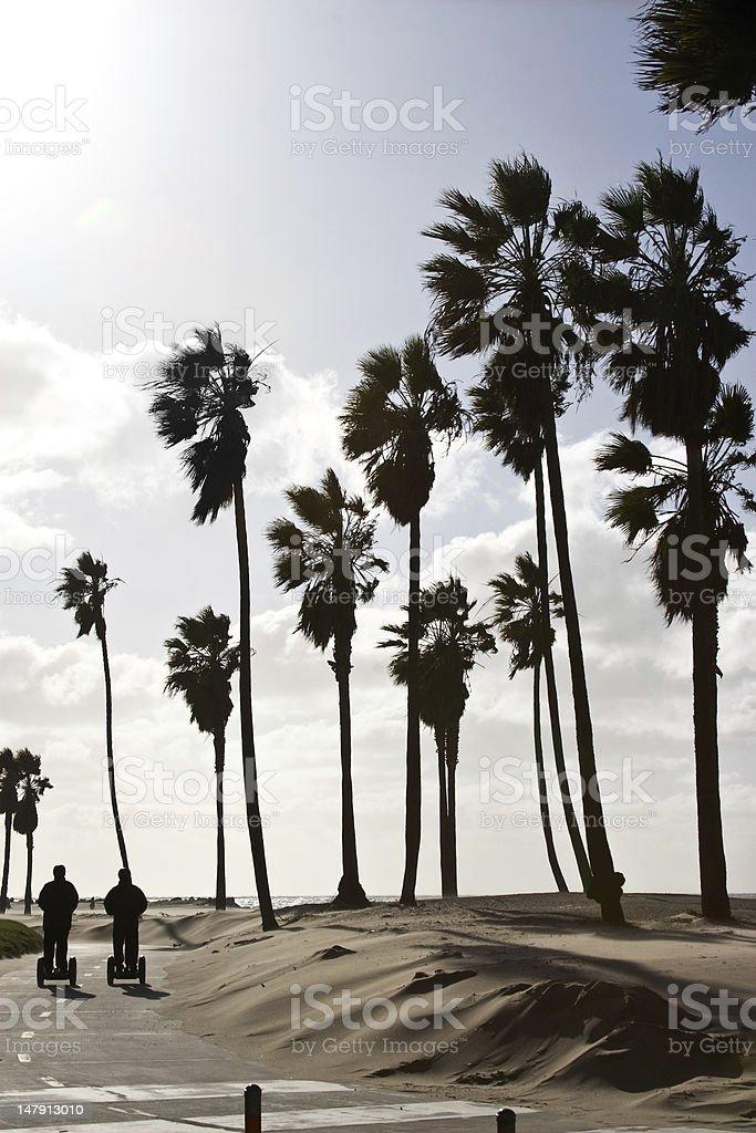 Venice beach segway tour stock photo