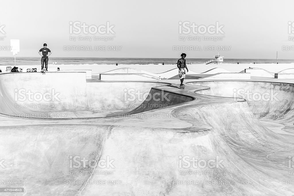 Venice Beach Skatepark royalty-free stock photo