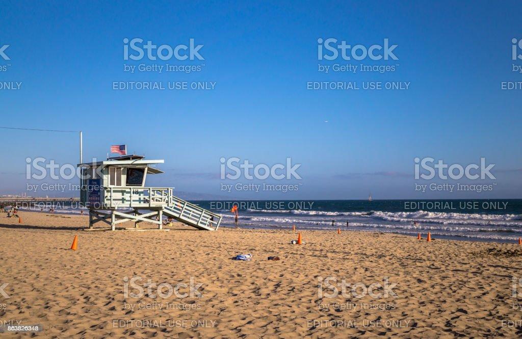 Venice Beach. The Pacific Coast in Los Angeles stock photo