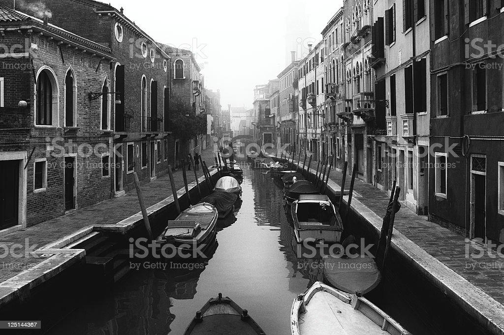 Venice. Black and White stock photo