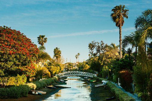 Venice Canal Historic District, Los Angeles. California.