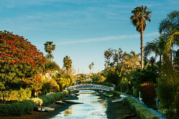 Venice Canal Historic District Los Angeles Venice Canal Historic District, Los Angeles. California. venice beach stock pictures, royalty-free photos & images