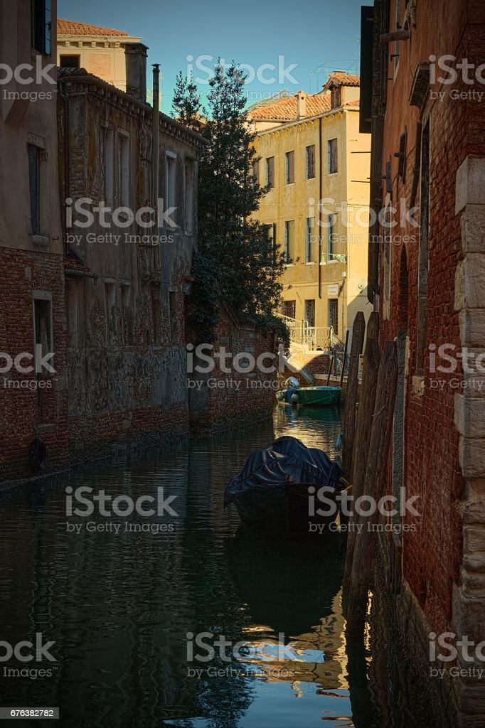 Venice canal stock photo
