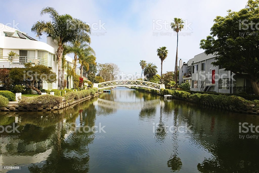 Venice Canals, L.A on a Sunny Day stock photo