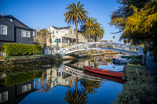 The canals at Venice beach, California