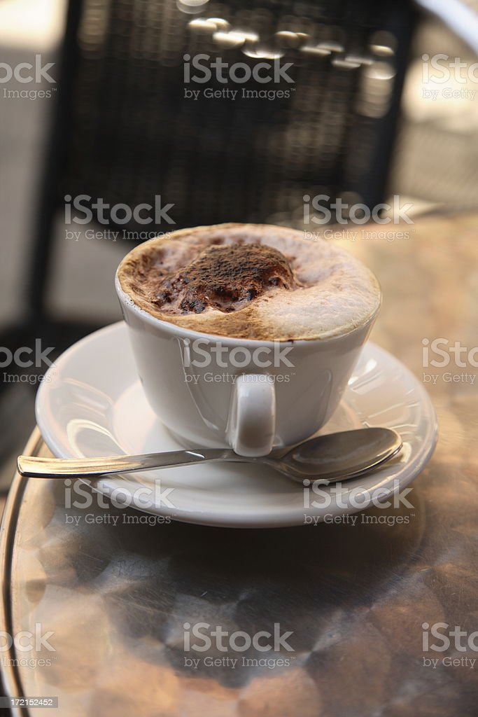Venice: Cappuccino royalty-free stock photo