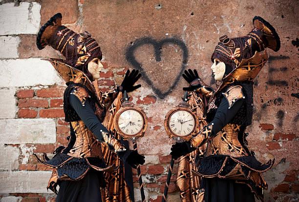 karneval von venedig 2014 - sprüche zeit stock-fotos und bilder
