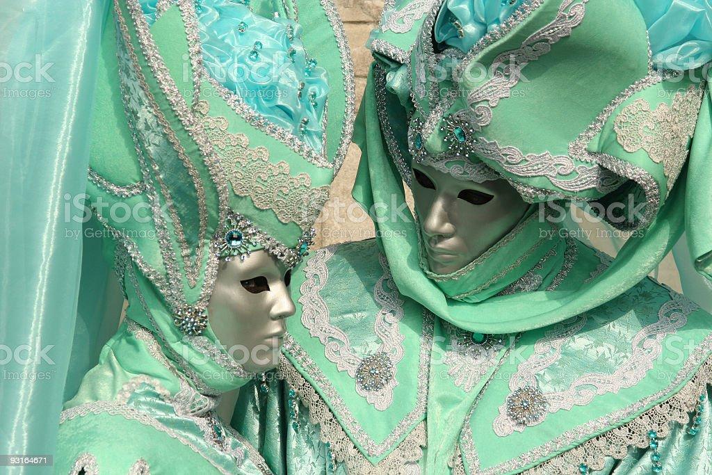 venice carnival costumes stock photo