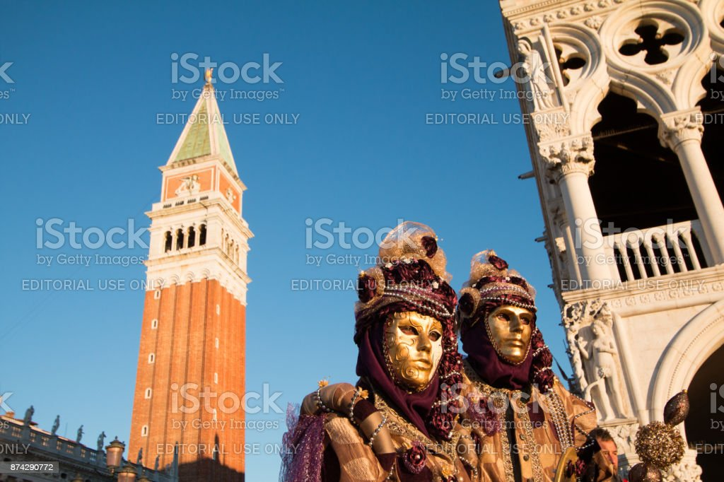 Venice Carnival in the Veneto, Italy stock photo