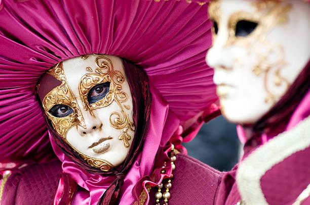 Máscara de carnaval de venecia - foto de stock
