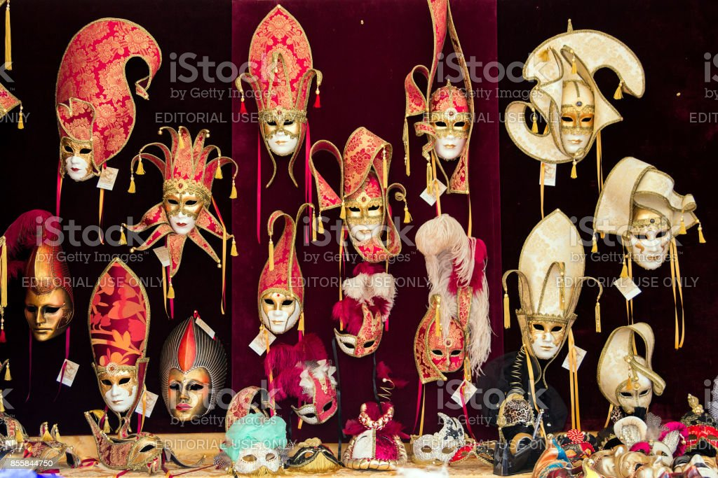 Venice Carnival masks stock photo