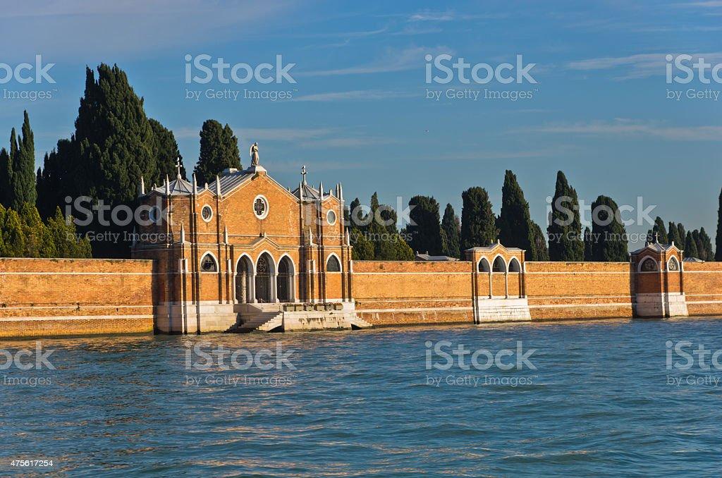 Venice cemetary at saint Michael island stock photo