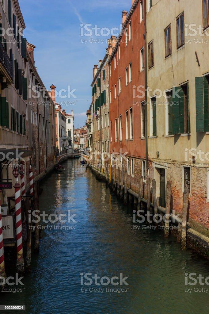 Venedig kanal se, Italien - Royaltyfri Arkitektur Bildbanksbilder