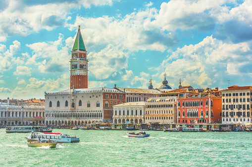 Venice cityscape, view from the lagoon