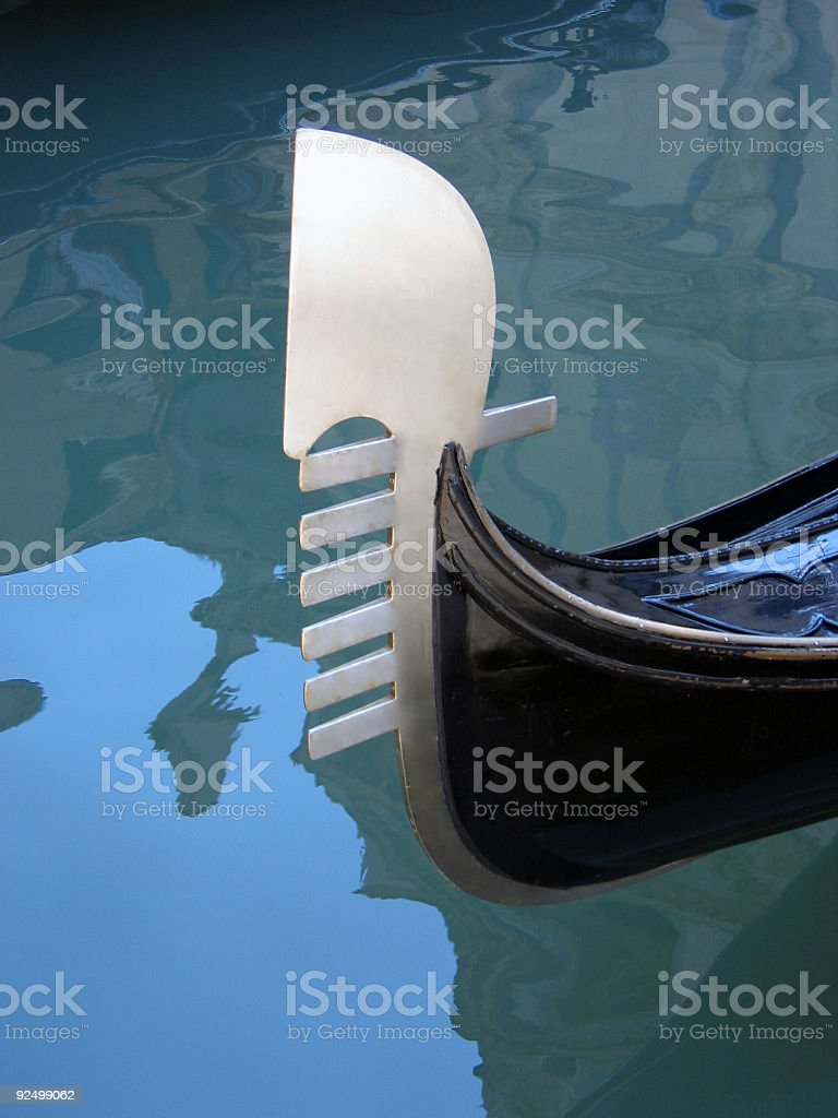 Venice detail 3 – Gondola tail royalty-free stock photo