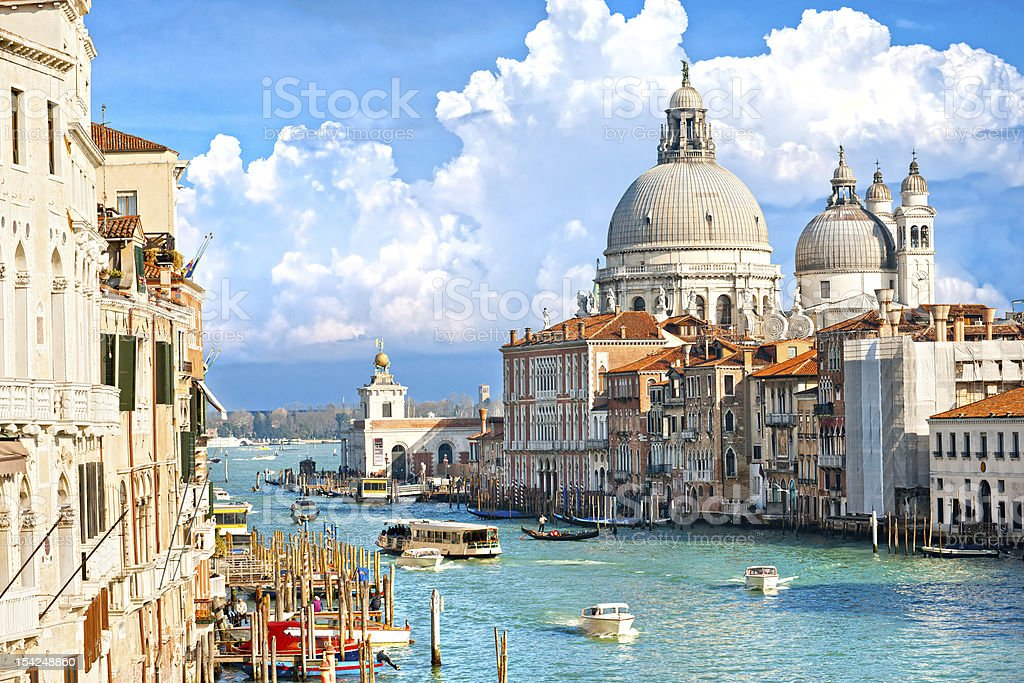 Venice during Carnival holiday, Italy. stock photo