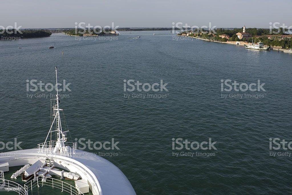 Venice evening sailaway royalty-free stock photo