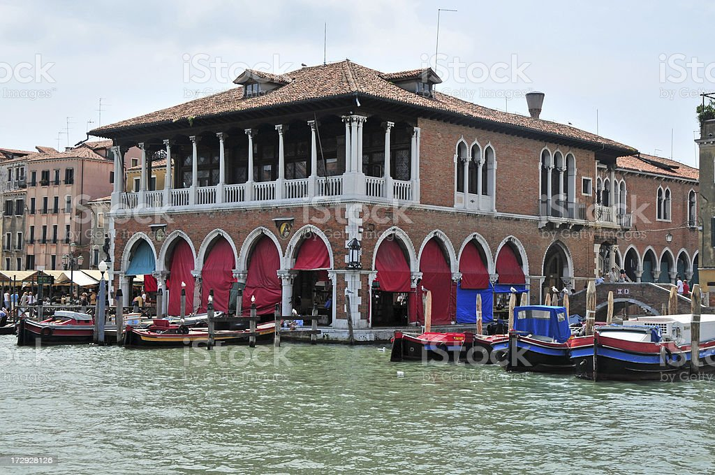 Venice Fish Market stock photo