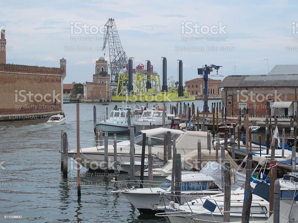 Venice Flood Control stock photo