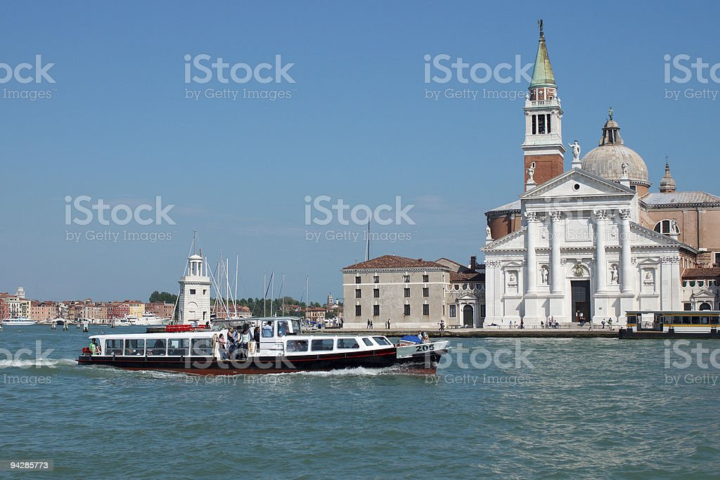Venice from water royalty-free stock photo