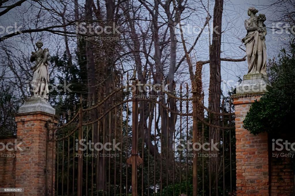 Venice Gardens stock photo